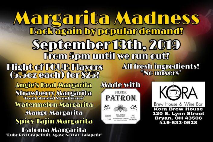 Sept 13th - Margarita Madness!