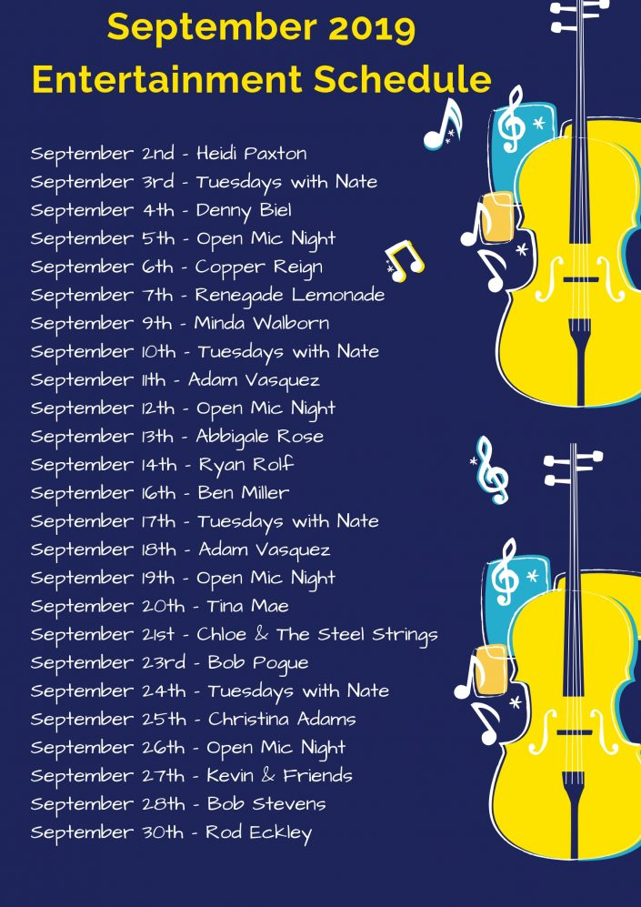October Live Music Schedule!