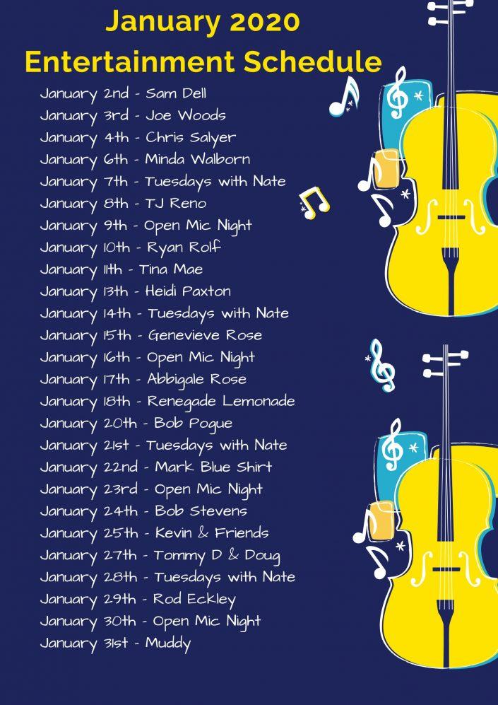 January 2020 LIVE Music