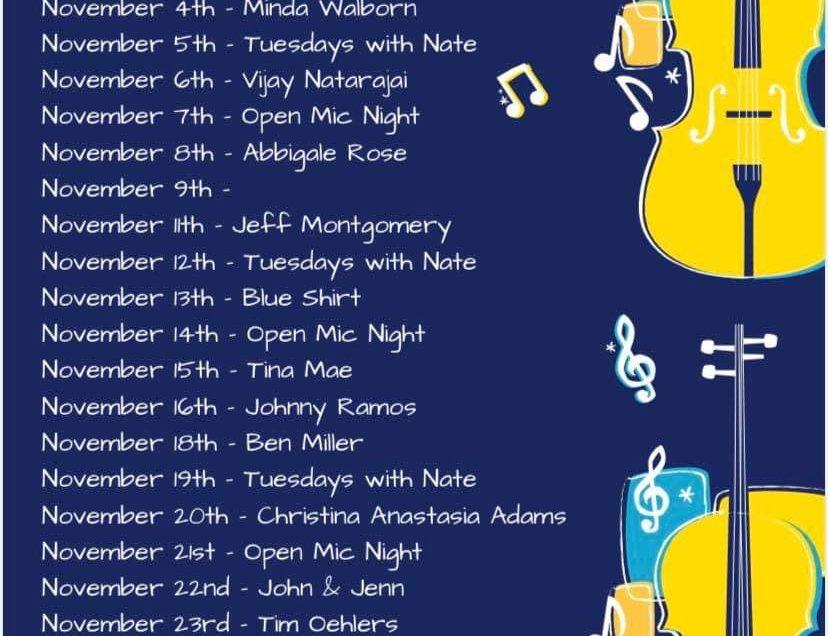 November Music Schedule 2019