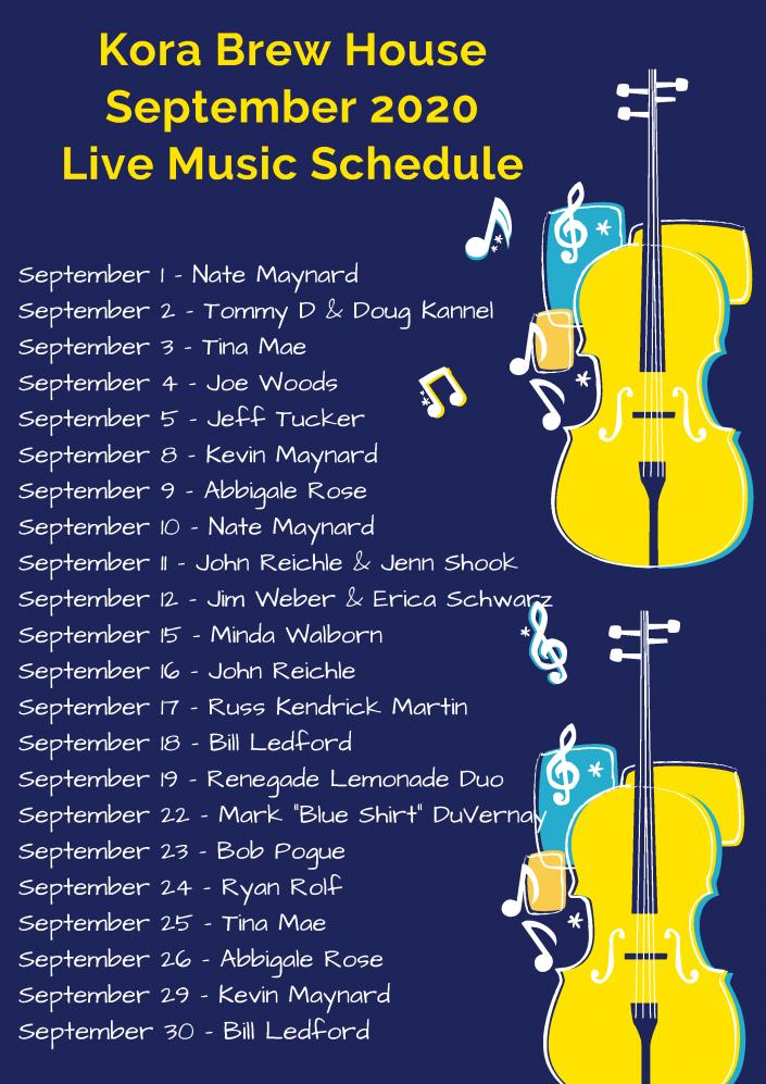September 2020 LIVE Music