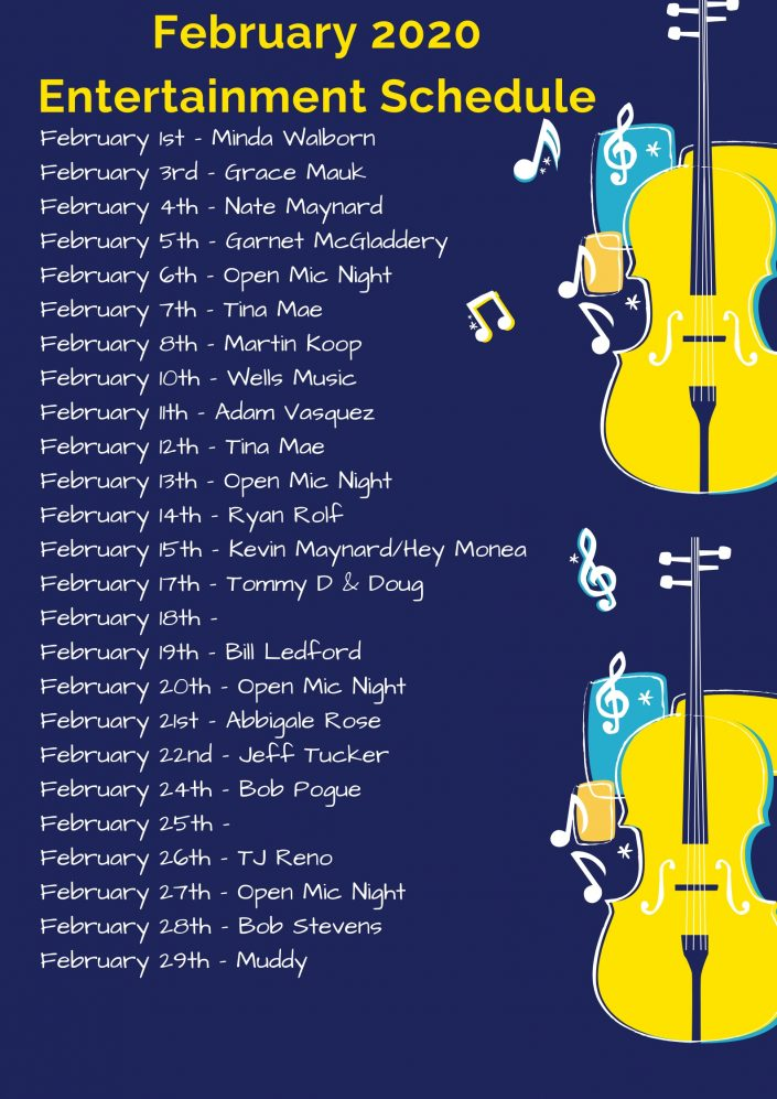 February 2020 LIVE Music